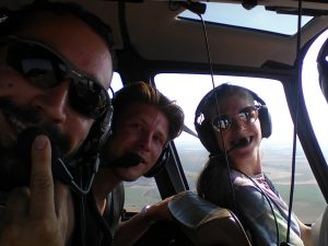 helicopter ride over Israel